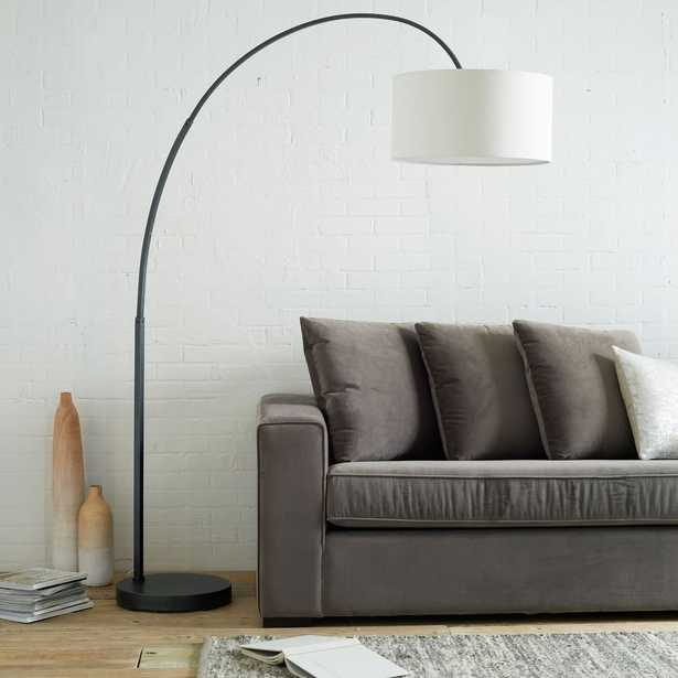 Overarching Floor Lamp, Antique Brass, Natural - West Elm