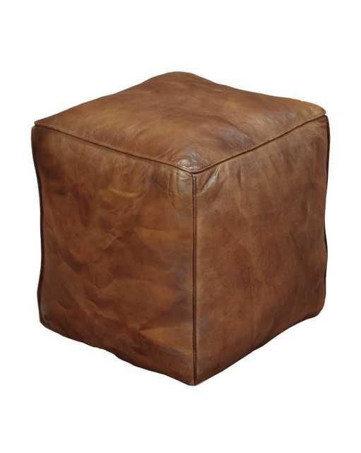 Aldo Leather Pouf - McGee & Co.