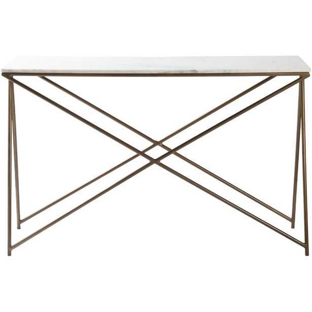 Norah Modern White, Gold Console Table - Perigold