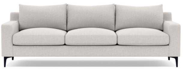 """SLOAN 3-Seat Sofa 95"""" W x 36""""D -Pebble - Matte Black Sloan L Leg - Interior Define"""