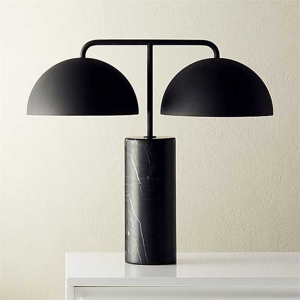 DOMES BLACK MARBLE TABLE LAMP - CB2