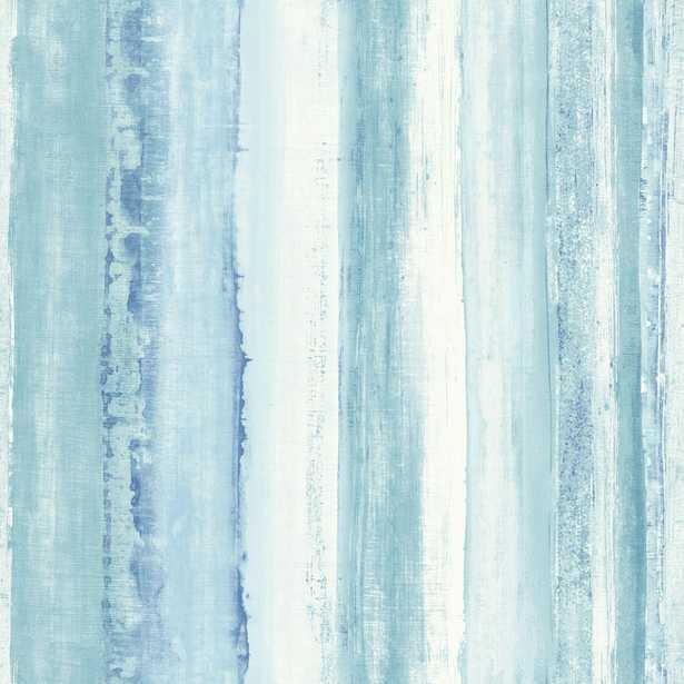 Watercolor Stripe Peel and Stick Wallpaper - York Wallcoverings