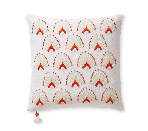 """Monarch Pillow Cover - Papaya - 20"""" sq - Serena and Lily"""