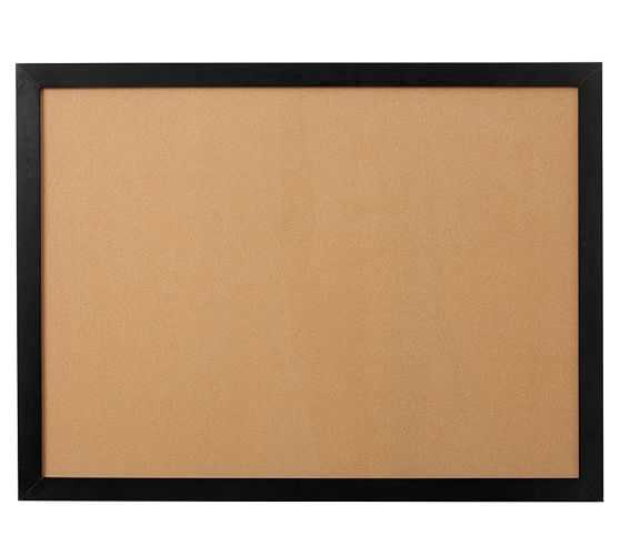 Framed Corkboard, Large, Black - Pottery Barn