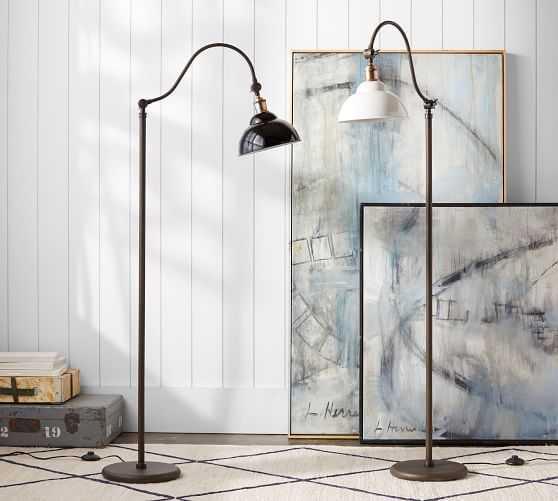 Preston Task Floor Lamp, Black - Pottery Barn