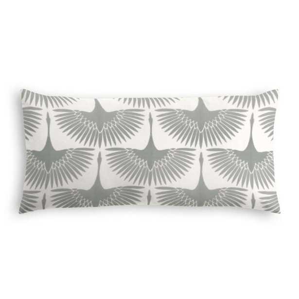 Wing it -Lunar Lumbar Pillow with Down Insert - Loom Decor