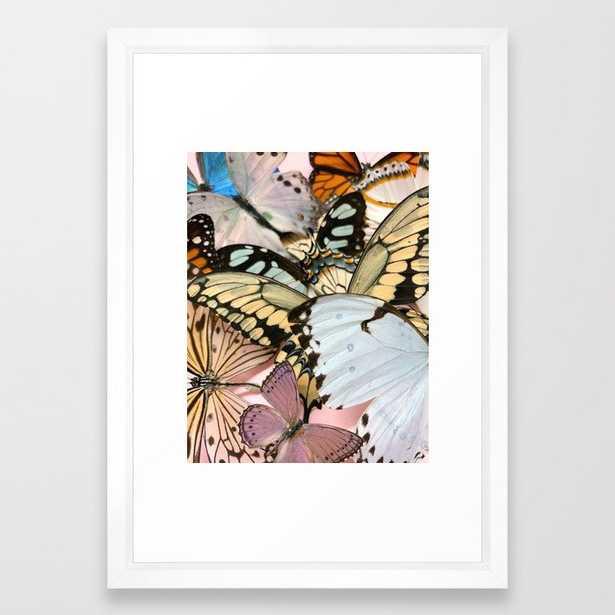 butterflies Framed Art Print - Society6