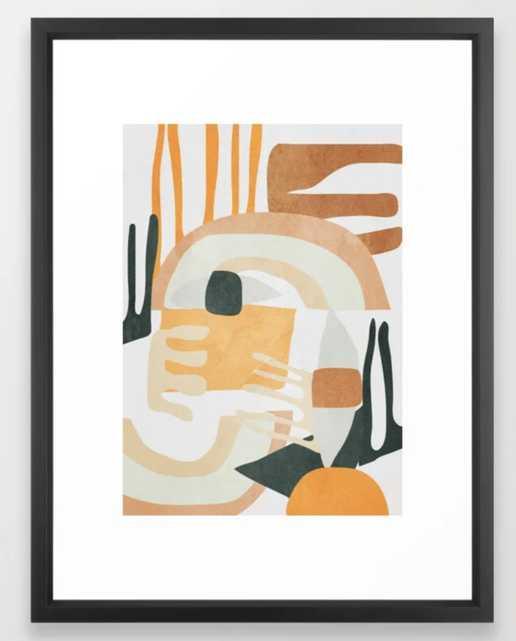 "Abstract Art 10 Framed Art Print, 15x21"", Vector Black - Society6"