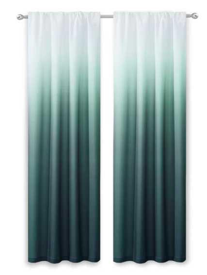 Nuss Ombre Room Darkening Rod Pocket Curtain Panels (Set of 2) - Wayfair