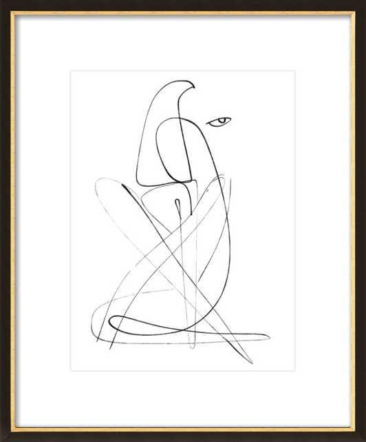 """Ramona  BY SHIRA BARZILAY - """"KOKETIT"""" - Black & Gold Frame - Artfully Walls"""