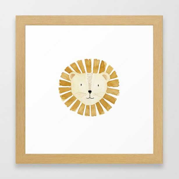 "Lion Nursery Framed Art Print, 12"" x 12"" - Society6"