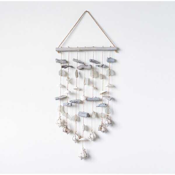 Driftwood with Shells & Sea Glass Beads Wall Décor - Wayfair