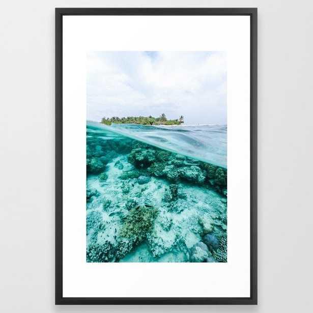 Underwater Maldives Framed Art Print - Society6