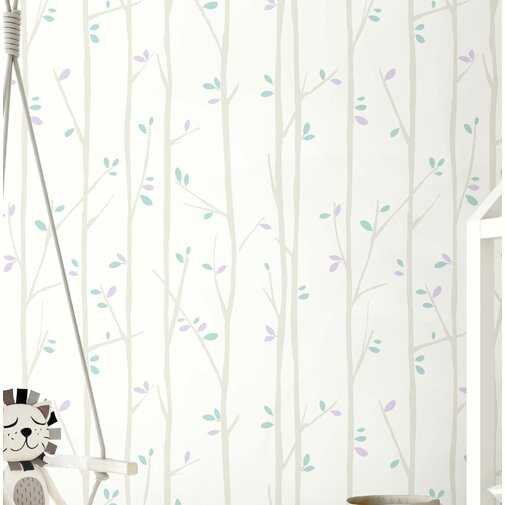 """Hungerford Tree Top 33' x 20.5"""" Wallpaper Roll - Wayfair"""