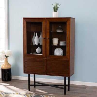 Gradington Glass-Door Curio Cabinet - Wayfair