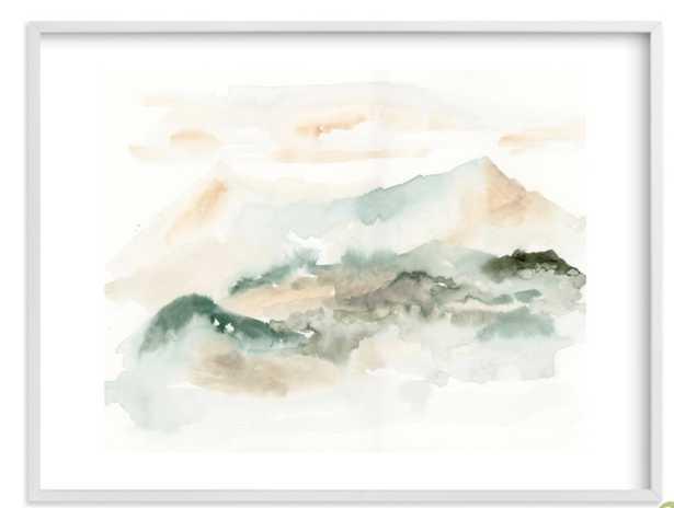 "Insight 30"" x 40"" White Wood Frame White Border - Minted"