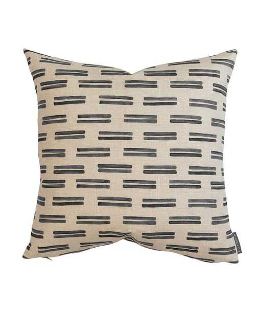 """AVERY DOUBLE STRIPE PILLOW COVER - Gray, 24"""" x 24"""" - McGee & Co."""