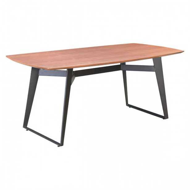 Fletcher Dining Table Walnut & Black - Zuri Studios