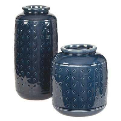 Schoenberger 2 Piece Table Vase Set - Wayfair