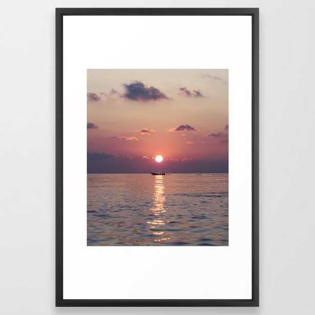 Gorgeous Ocean Sunset Framed Art Print - Society6