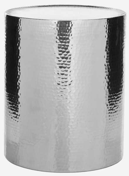 Polonium Occasional Hammered Table - Silver - Arlo Home - Arlo Home