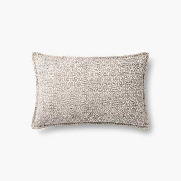 """Loloi PILLOWS P0888 Grey 13"""" x 21"""" Cover w/Poly - Loma Threads"""