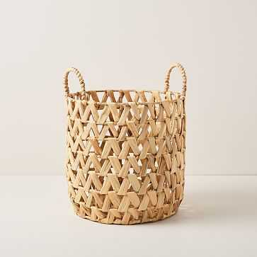 Open Weave ZigZag Baskets, small - West Elm