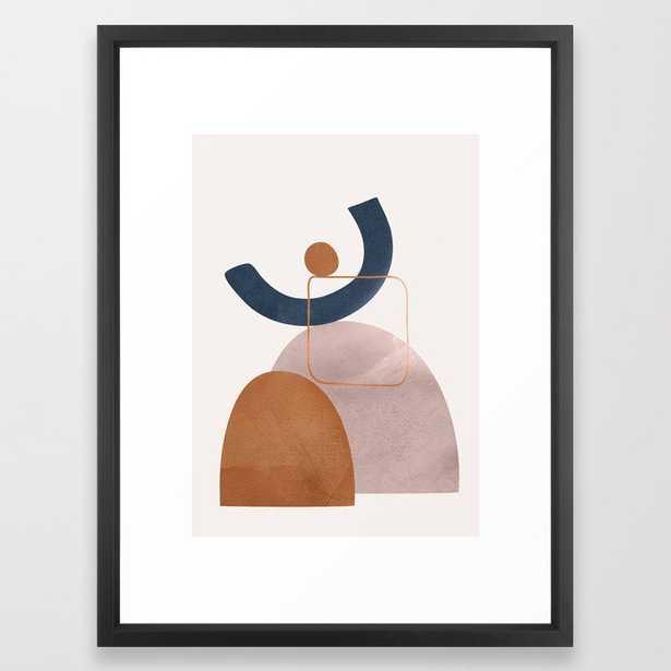 Minimal Abstract Shapes No.32 Framed Art Print - Society6