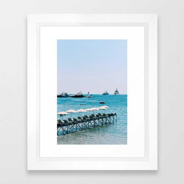 Pretty blue beach in the South of France - Côte d'Azur photo print | Travel photography | Art print Framed Art Print - Society6