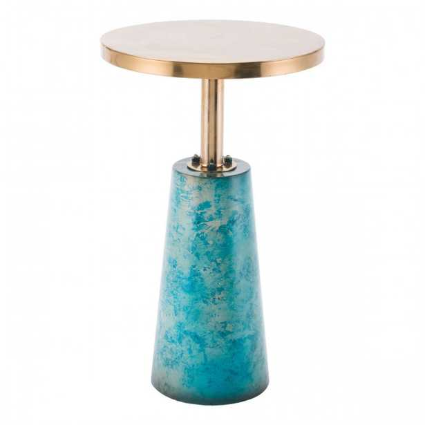 Zaphire End Table Teal - Zuri Studios