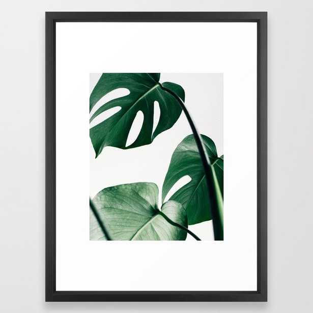 Plant, Green, Monstera, Leaf, Minimal, Trendy decor, Interior, Wall art, Photo Framed Art Print - Society6