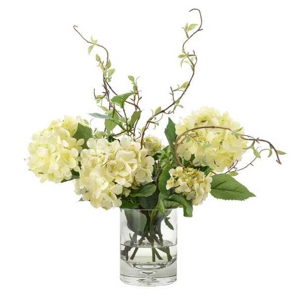 Faux Hydrangea with Vines in Vase - Perigold