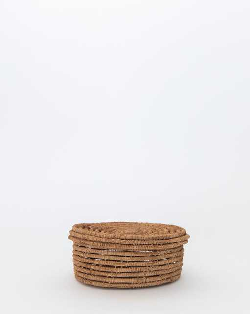 WOVEN PALM BASKET-Large - McGee & Co.