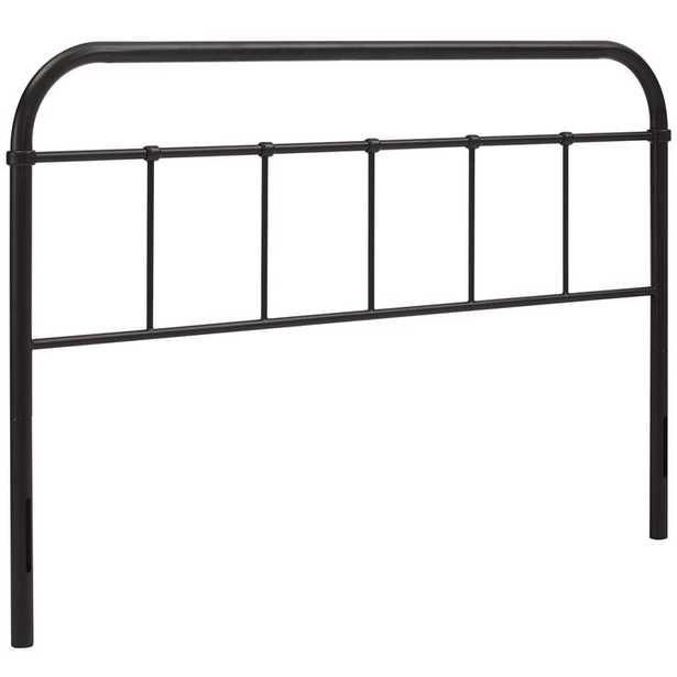 SERENA QUEEN STEEL HEADBOARD IN BROWN - Modway Furniture