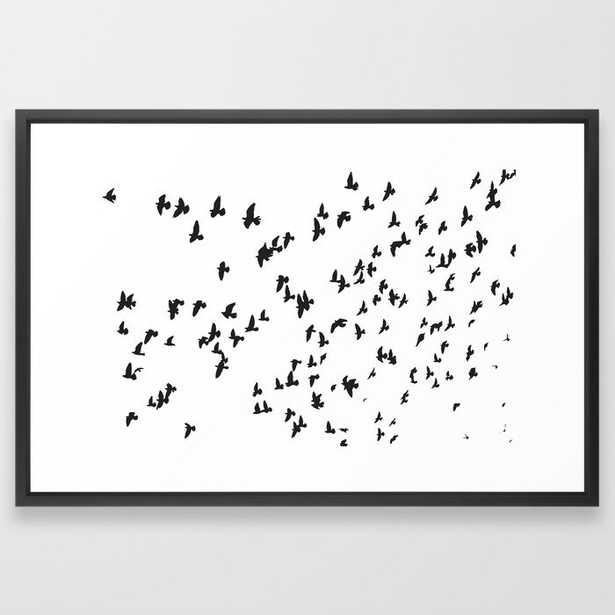 Happy Birds - Vector Black - 26x38 - Society6