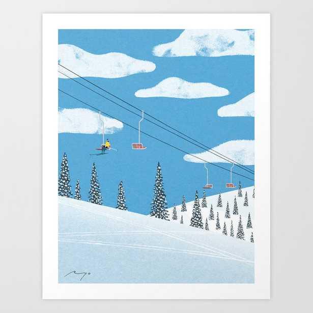 Ski slope Art Print - Society6