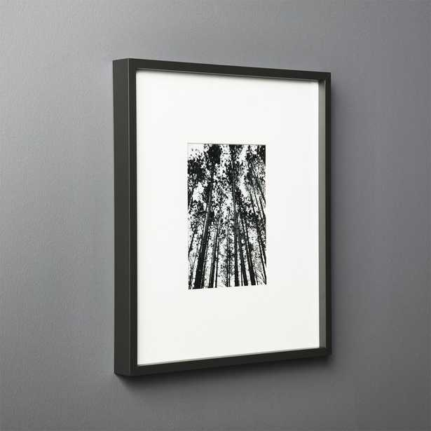 Gallery Black Frame with White Mat 5x7 - CB2