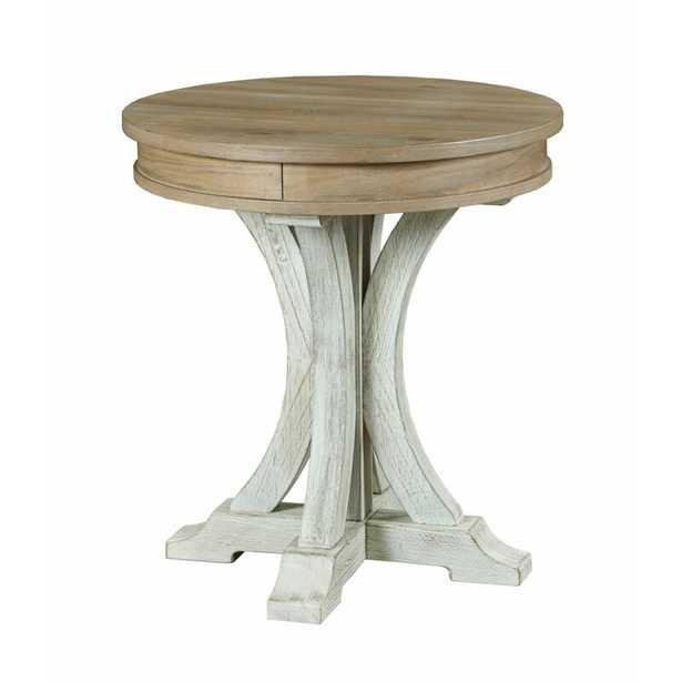 Carwell Pedestal End Table - Wayfair