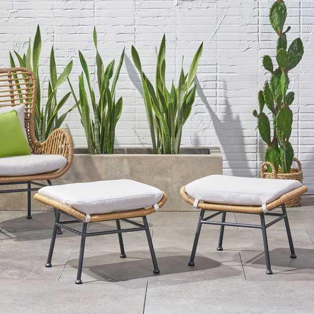 Gosnold Outdoor Ottoman with Cushion (Set of 2) - Wayfair