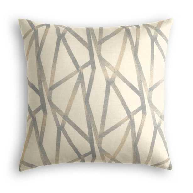 Throw Pillow - Tessellate - Lead - 20x20 - Down Insert - Loom Decor