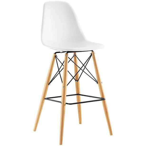 PYRAMID BAR STOOL IN WHITE - Modway Furniture