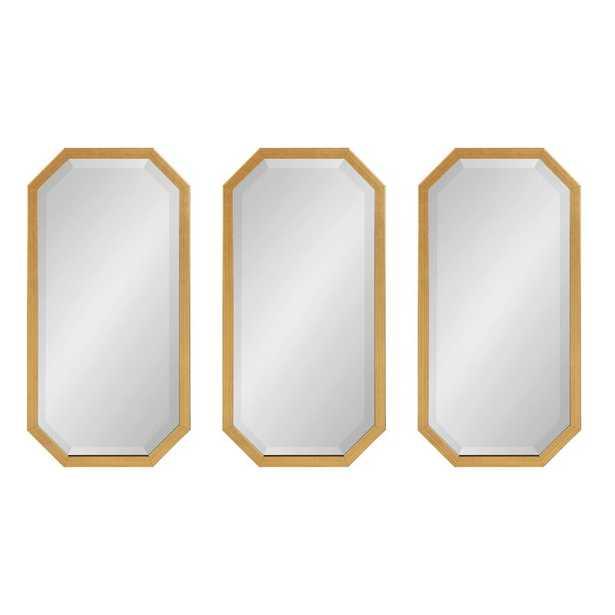 3 Piece Scheid Posh & Luxe Beveled Mirror Set - Wayfair