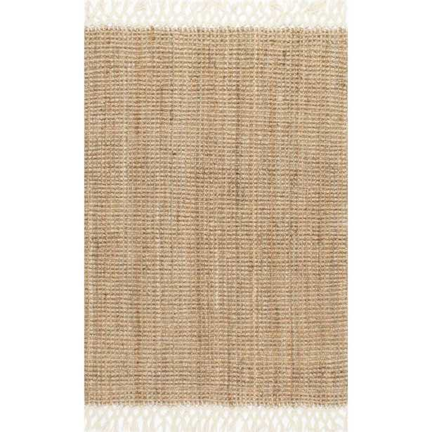 Raleigh Farmhouse Fringed Jute Tan 9 ft. x 12 ft. Area Rug - Home Depot