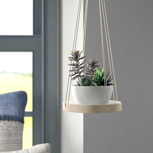 "Mistana Jakobe Stoneware Hanging Planter - 6"" - Wayfair"