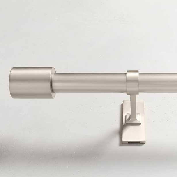 """Oversized Adjustable Metal Rod - Brushed Nickel - 108""""-144"""" - West Elm"""