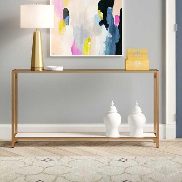 Benoit Console Table - Gold - Wayfair