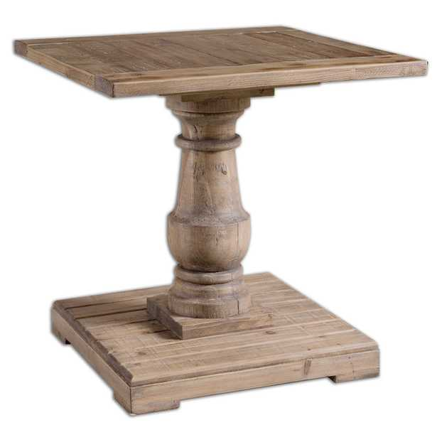 Stratford Pedestal End Table - Hudsonhill Foundry
