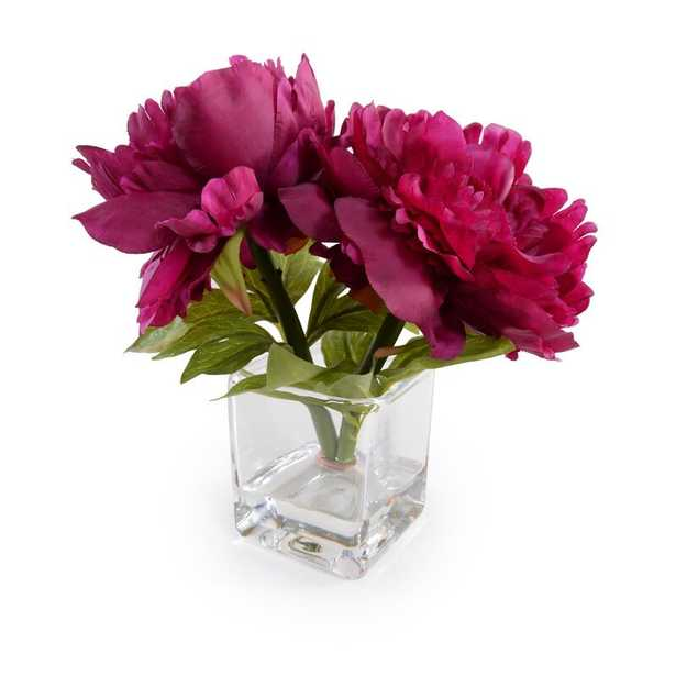Pauletta Hydrangea Floral Arrangement in Vase - Wayfair
