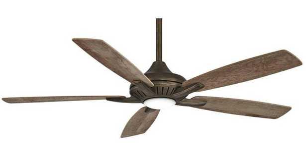 "52"" Minka Aire Dyno Heirloom Bronze LED Ceiling Fan - Lamps Plus"