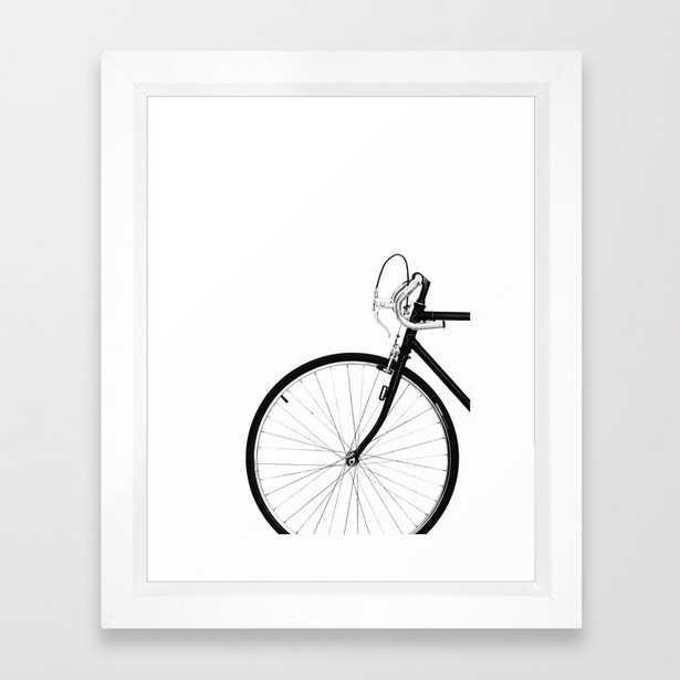 Bicycle, Bike Framed Art Print, vector white frame, - Society6